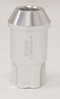 NRG 100 Series M12 x 1.5 Lug Nut Lock Set 4 pc Silver