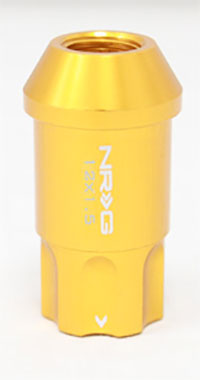 NRG 100 Series M12 x 1.5 Lug Nut Lock Set 4 pc Rose Gold