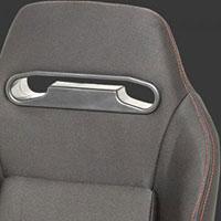 NRG  Type-R Cloth Sport Seat Black w/ Red Stitch (Left)