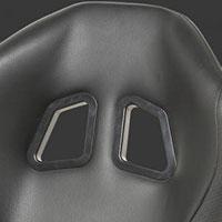 NRG  PVC leather Sport Seats Red w/ Black Trim (Left)