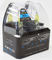NRG Fog Light High Beam Bulbs Yellow H3 - Optics 12V 55W  (Pair)