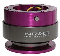 NRG  Quick Release Kit Gen 2.0 - Purple Body/Titanium Chrome Ring