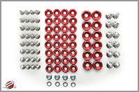 Password:JDM Engine Bay Washer Dress Up Kit, Orange Mitsubishi Evo X