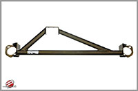 Password:JDM SOLID TOWER BAR 1988-1991 Honda Civic / CRX, Bronze UPPER FRONT 3-POINT