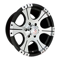 Rebel Racing Ace Wheel Rim 15x8 5x114.3 ET0 83.06 Black w/Machined Face