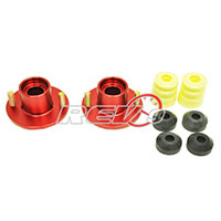 REV9POWER Acura Integra / Honda Civic / Del Sol / CR-X aluminum suspension top hats 2 pcs (red)