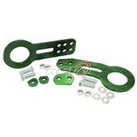 REV9POWER Universal Aluminum Cnc Tow Hook Front & Rear Green