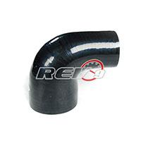 REV9POWER Silicone Hose 90 Degree Reducer 2.75 To 3.00 Inch (Black)