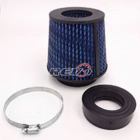 "REV9POWER Universal high performance intake cone w adaptor from 2.25"" to 4"" (blue)"
