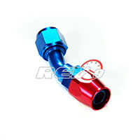 REV9POWER -8 AN Hose End - 45 Degree