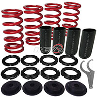 REV9POWER Acura ,Honda lowering spring sleeve kit with scale (red)