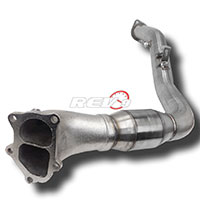 REV9POWER Subaru WRX STI 08-12 EJ20 EJ25 Turbo Downpipe with Cat