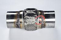 "REV9POWER 3"" X 4"" X 8"" Mild Steel Exhaust Flex Pipe"