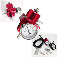 REV9POWER Fuel Pressure Regulator with gauge (red)