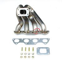 REV9POWER Honda Civic Integra B16 B18 T3 Top Mount Equal Length Stainless Turbo Manifold