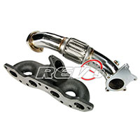 "REV9POWER Nissan S13 S14 240SX SR20DET Top Mount Manifold+3"" Downpipe Set"