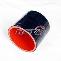 REV9POWER Silicone Hose Straight Coupler 2.50 Inch (Black)