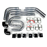 REV9POWER Universal aluminum intercooler pipe kit 2.75 black