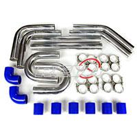 REV9POWER Universal aluminum intercooler pipe kit 2.75 blue