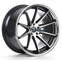 ROHANA RC10 Wheel Rim 19x8.5 5x112 ET25 Machine Black/Chrome Lip
