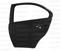 SEIBON CARBON FIBER REAR DOORS (pair) MITSUBISHI LANCER EVO X 2008-2012