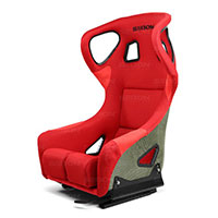 SEIBON CARBON FIBER RACING SEAT CARBON KEVLAR BUCKET RACING SEAT TYPE-FC - RED UNIVERSAL