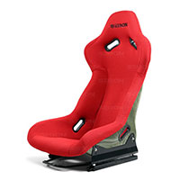 SEIBON CARBON FIBER RACING SEAT CARBON KEVLAR BUCKET RACING SEAT - RED UNIVERSAL