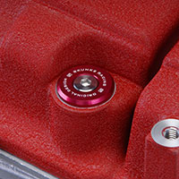 SKUNK2 RACING HONDA / ACURA VALVE COVER WASHER KIT - B SERIES VTEC, RED ANODIZED VTEC ONLY