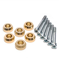 SKUNK2 RACING Rear Lower Control Arm Bolt Kit HONDA / ACURA LOWER CONTROL ARM BOLT KIT, GOLD ANODIZED 88-00 CIVIC, 90-01 INTEGRA