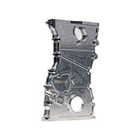 SKUNK2 RACING HONDA / ACURA TIMING CHAIN COVER - K20 ENGINE, CLEAR ANODIZED K20 ONLY (LIGHT SILVER)