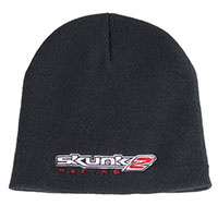 SKUNK2 RACING KNIT BEENIE - ONE SIZE FITS ALL BLACK