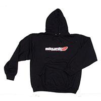 SKUNK2 RACING HOODED EMBROIDERED-LOGO SWEATSHIRT - L BLACK