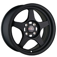 TRAKLITE BURN 15X7 4X100 ET35 MATT BLACK