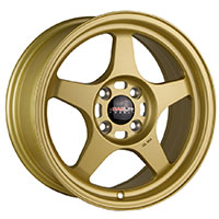 TRAKLITE BURN 15X7 4X100 ET35 MATT GOLD
