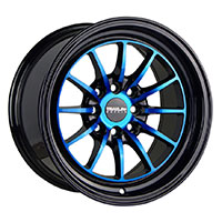 TRAKLITE CHICANE 15X8.25 4X100/114.3 ET20 ANODIZED BLUE BLACK WINDOWS