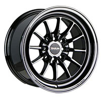TRAKLITE CHICANE 15X8.25 4X100/114.3 ET20 ALL BLACK CHROME