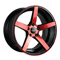 TRAKLITE TRAK-K 18X9.5 5X114.3 ET 20 ANODIZED RED FACE GLOSS BLACK WINDOWS