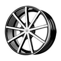 Verde Contra Wheel Rim 20x10 0 ET25 72.62 Gloss Black/ Machined