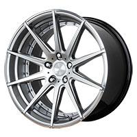 Verde Insignia Wheel Rim 20x10 5x112 ET25 66.6 Hyper Silver Dark/ Machined