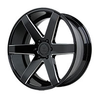 Verde Invictus Wheel Rim 20x9 5x114.3 ET35 74.1 Gloss Black/ Milled Windows