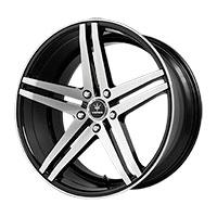 Verde Parallax Wheel Rim 19x8.5 5x108 ET38 74.1 Gloss Black/ Machined
