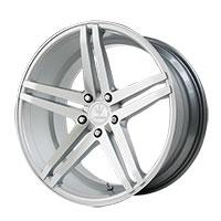 Verde Parallax Wheel Rim 19x8.5 5x108 ET38 74.1 Matte Silver/ Machined