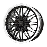 Verde Regency Wheel Rim 16x7.5 0 ET40 72.62 Gloss Black/ Machined Lip