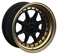 XXR 002 5 Wheel Rim 15x8 4x100/4x114.3 ET0 73.1mm Flat Black / Bronze Lip