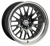 XXR 531 Wheel Rim 15x8 4x100/4x114.3 ET0 73.1mm Chromium Black / ML