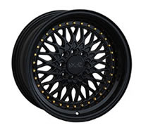 XXR 536 Wheel Rim 15x8 4x100/4x114.3 ET0 73.1mm Black / Gold Rivets