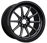 XXR 557 Wheel Rim 15x7 4x100/4x114.3 ET15 73.1mm Black / Milled