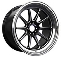 XXR 557 Wheel Rim 15x7 4x100/4x114.3 ET15 73.1mm Black / Milled / ML