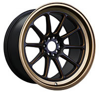 XXR 557 Wheel Rim 15x7 4x100/4x114.3 ET15 73.1mm Flat Black / Bronze