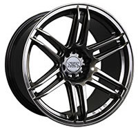 XXR 558 Wheel Rim 18x8.75 5x100/5x114.3 ET19 73.1mm Chromium Black